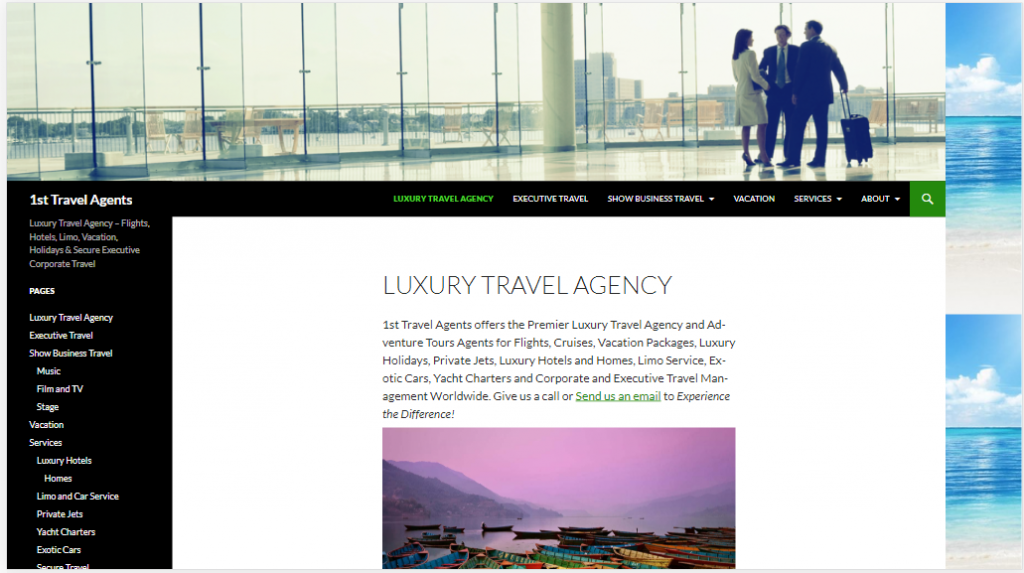 1st Travel Agents offers the Premier Luxury Travel Agency and Adventure Tours Agents