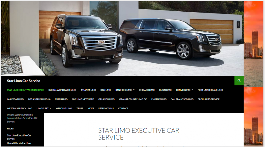Star Limo Car Service has been in business since 2001 and we strive to offer the best limousine and car service currently operating in major cities worldwide.