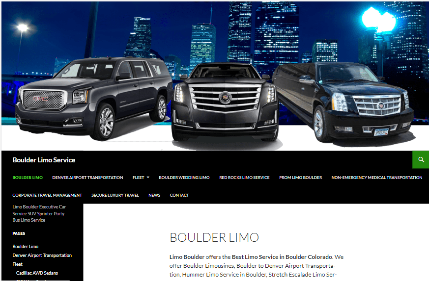 Limo Boulder offers the Best Limo Service in Boulder Colorado